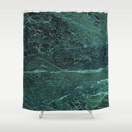 Dark Green Marble Texture Shower Curtain