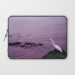 White Egret at Sunset Laptop Sleeve