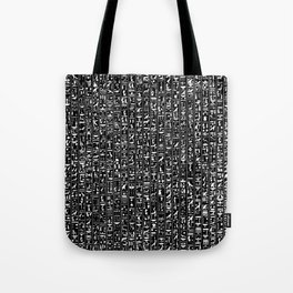 Hieroglyphics B&W INVERTED / Ancient Egyptian hieroglyphics pattern Tote Bag
