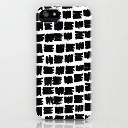 Black brush iPhone Case