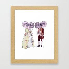 Madame and Monsieur Elephant Framed Art Print