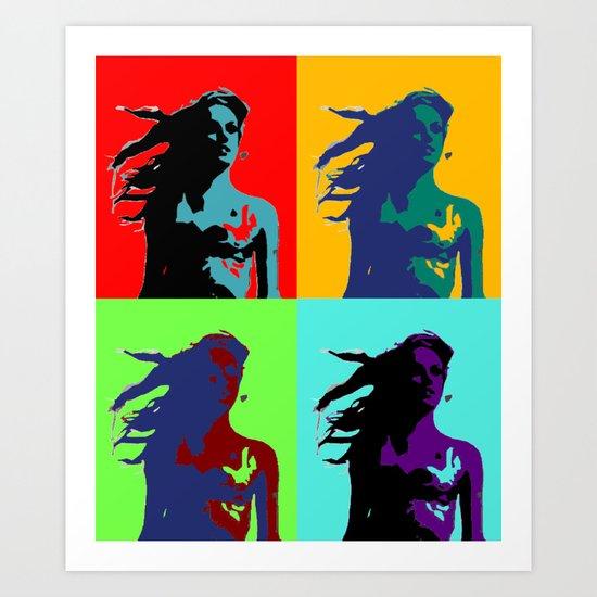 Warhol Goddess Art Print