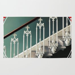 Stairway - red graphic Rug