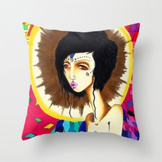Geometric Madonna  Throw Pillow