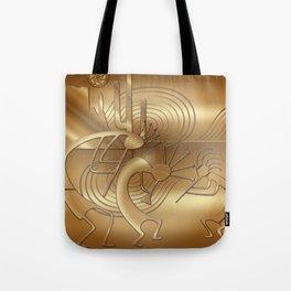 Magical Kokopelli in Bronze Mist Tote Bag