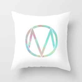 The Maine | Watercolor 'M' Throw Pillow