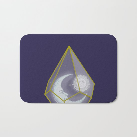 locked in crystal glass Bath Mat