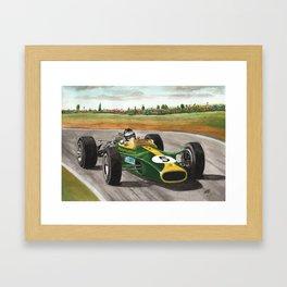 Jim Clark (natural born racer) Framed Art Print