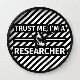 Researcher Geek - Trust me I'm a Researcher Wall Clock