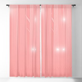 Soft Coral Felines Forest Blackout Curtain