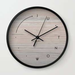 'Just now…' in faded wood Wall Clock