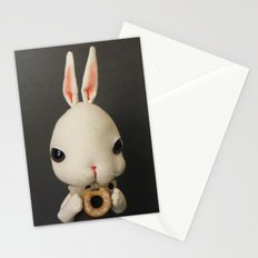 Mr Bunny loves donut Stationery Cards