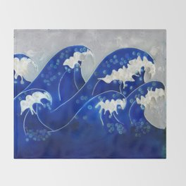 Waves Throw Blanket