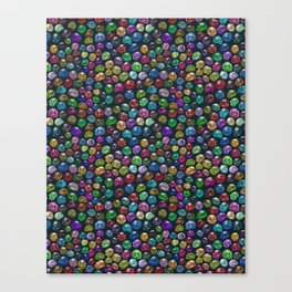 Candied Skulls Canvas Print