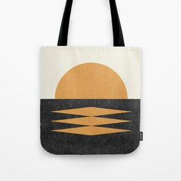 Sunset Geometric Midcentury style Tote Bag