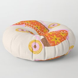 Retro Roller Skates – Coral Floor Pillow