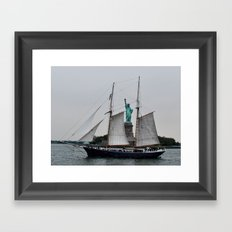 Free Sailing Framed Art Print