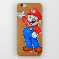 mario iPhone & iPod Skins featuring mario by eyal mor