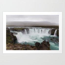 Godafoss waterfall in Iceland - nature landscape Art Print