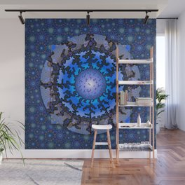 Blue Violet Thangka Wall Mural