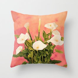 Monterey Calla Lilies Throw Pillow