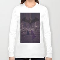 gotham Long Sleeve T-shirts featuring Gotham Nights by Ed Burczyk