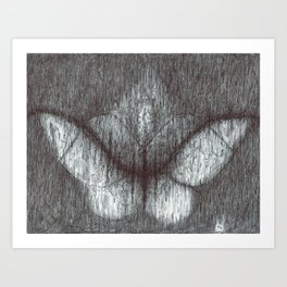 Delayed Chord Butterfly Art Print