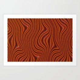 Amber Lava 6 Hi Res Art Print
