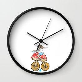 Mushroom Bike Wall Clock