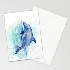 Dolphin Watercolor Sea Creature Animal Stationery Cards