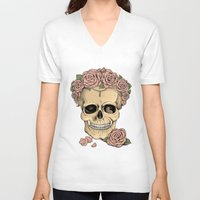 eugenia loli V-neck T-shirts featuring Memento mori by Eugenia Hauss