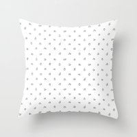 hands Throw Pillows featuring Hands by Burnt Toast Creative