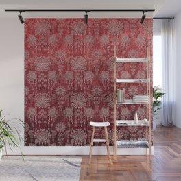 Victorian Potpourri - Faded Splendor Damask - RUBY Wall Mural