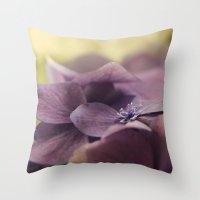 hydrangea Throw Pillows featuring Hydrangea by Deborah Janke