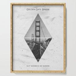 Coordinates SAN FRANCISCO Golden Gate Bridge Serving Tray