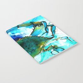 Blue Crab - Abstract Seafood Painting Notebook