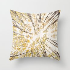 fall looking up Throw Pillow