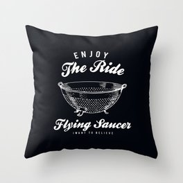 Flying Saucer Throw Pillow