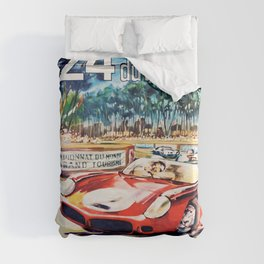 Le Mans poster, 1962, vintage poster, t-shirt, race poster Duvet Cover