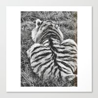 hobbes Canvas Prints featuring Hobbes.  by calvin./CHANCE