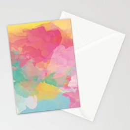 RAINBOW SPLATTER LAYERS Stationery Cards