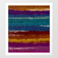 Knit stripes Art Print