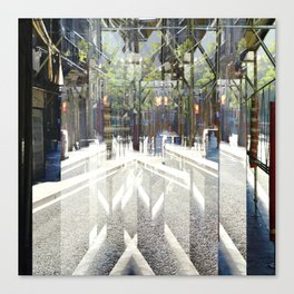 cross out or over paths summarized as with burrows Canvas Print