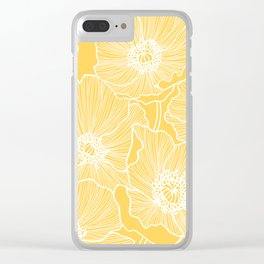 Sunshine Yellow Poppies Clear iPhone Case
