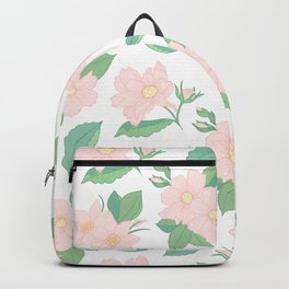 Summer Days Pink Floral Print Backpack