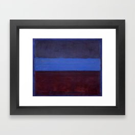 No.61 Rust and Blue 1953 by Mark Rothko Framed Art Print