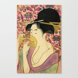 Japanese Art Print - Japanese Woman - Kushi Utamaro Canvas Print