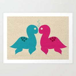 Loch Ness Love Art Print
