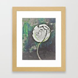 Golden Rose Acrylic Icey Green Mint Chocolate Chip Framed Art Print