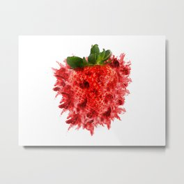 Strawberry Explosion Metal Print